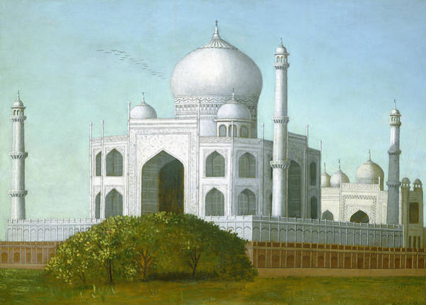 Wall Art - Painting - The Taj Mahal by Erastus Salisbury Field