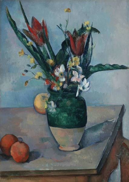 Wall Art - Painting - The Vase Of Tulips by Paul Cezanne