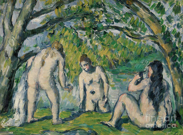Wall Art - Painting - Three Bathers by Paul Cezanne