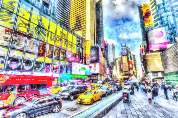 Wall Art - Photograph - Times Square New York Art by David Pyatt