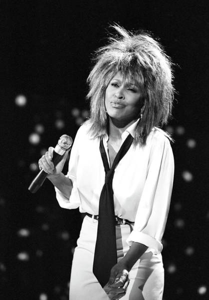 Photograph - Tina Turner Performs On A Tv Show by Michael Ochs Archives