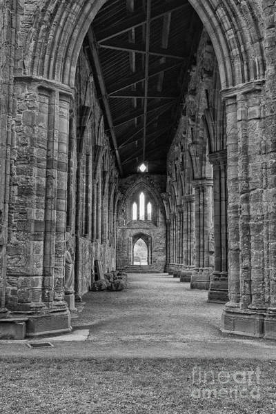 Wall Art - Photograph - Tintern Abbey In Black And White by Patricia Hofmeester