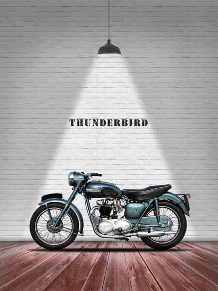 Thunderbird Wall Art - Photograph - Triumph Thunderbird 1955 by Mark Rogan