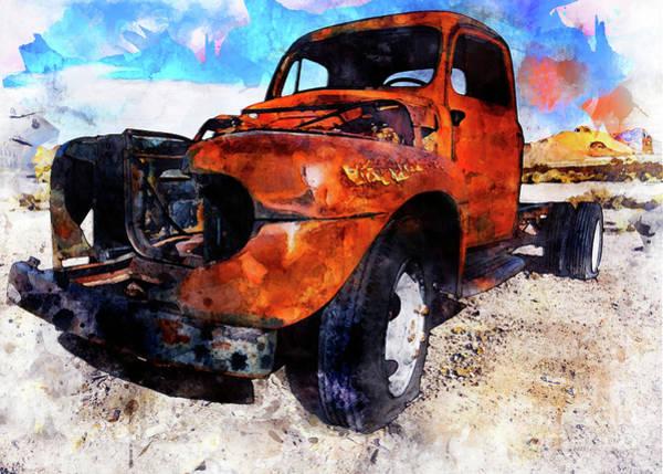 Digital Art - Truck by Mark Jackson