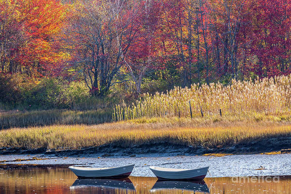 Photograph - Two Boats In Autumn by Susan Cole Kelly
