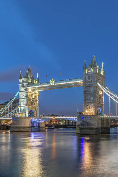 Wall Art - Photograph - Uk, London Twilight Tower Bridge by Rob Tilley