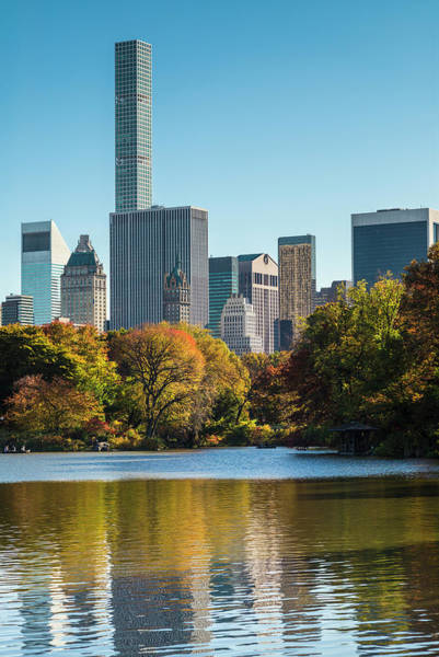Wall Art - Photograph - Usa, New York City, Central Park, Autumn by Walter Bibikow