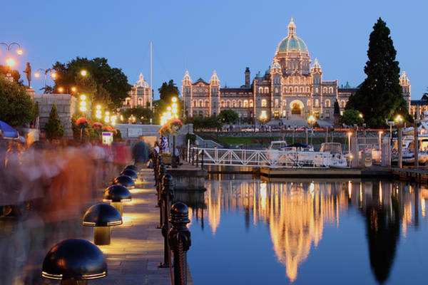 Photograph - Victoria At Night by S. Greg Panosian