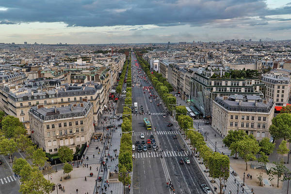 Wall Art - Photograph - View From Top Of Arc De Triomphe by Darrell Gulin