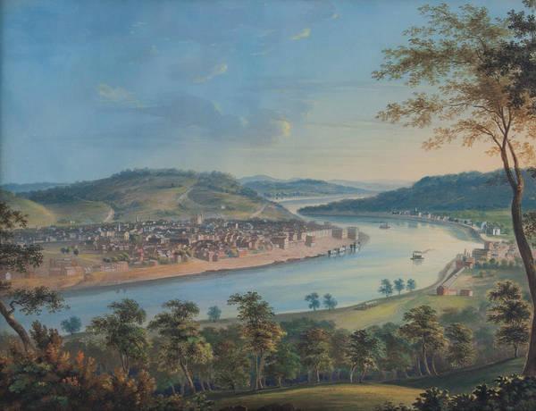 Wall Art - Painting - View Of Cincinnati From Covington by John Caspar Wild