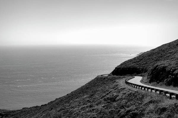 Wall Art - Photograph - View Of Curving Coastal Road, Marin by Panoramic Images