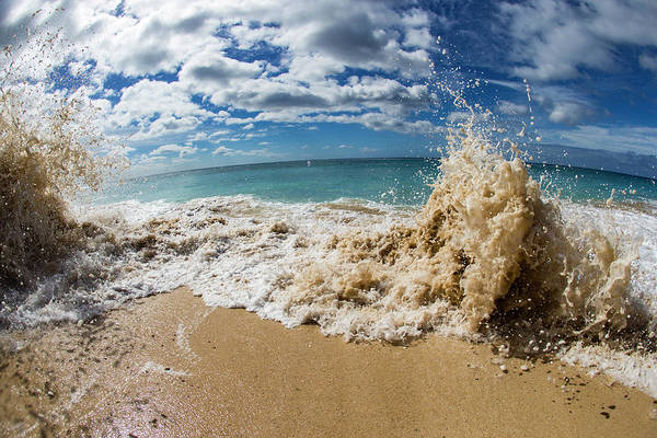 Wall Art - Photograph - View Of Surf On The Beach, Hawaii, Usa by Panoramic Images