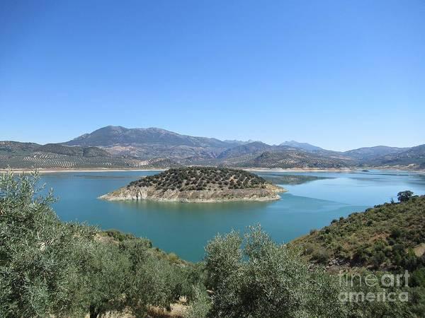 Photograph - View On The Lake Near Iznajar by Chani Demuijlder
