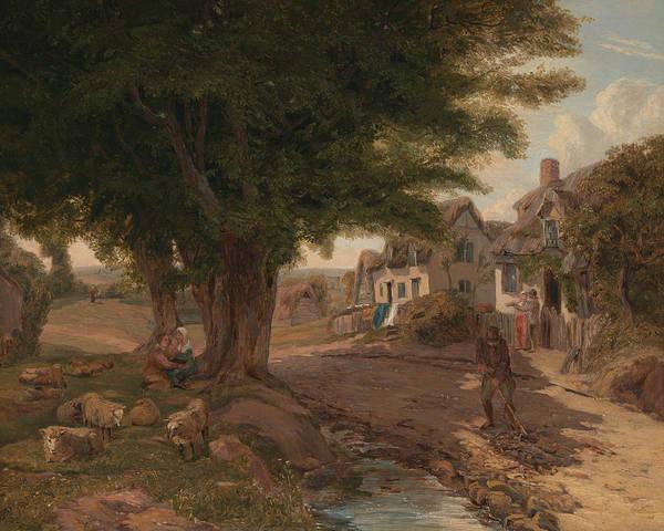 Landseer Painting - Village Scene  by Jessica Landseer