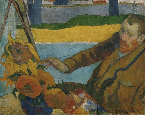 Wall Art - Painting - Vincent Van Gogh Painting Sunflowers by Paul Gauguin