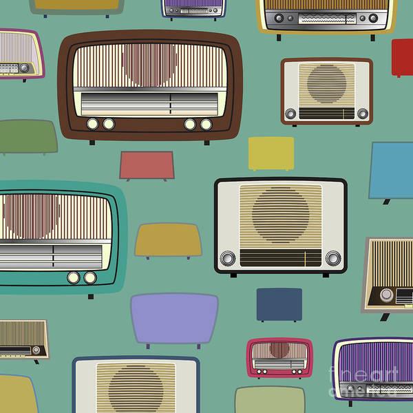 Wall Art - Digital Art - Vintage Radio by Atiketta Sangasaeng