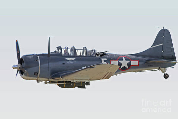 Sbd Wall Art - Photograph - Vintage World War II Dive Bomber by Kevin McCarthy