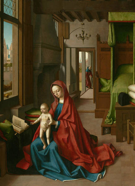 Painting - Virgin And Child In A Domestic Interior by Petrus Christus