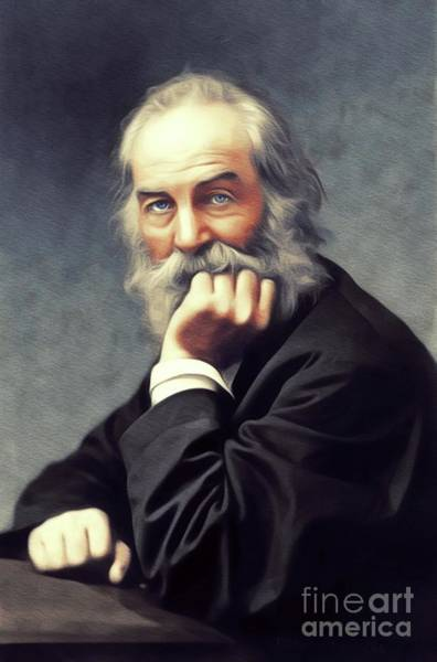 Poetry Painting - Walt Whitman, Literary Legend by John Springfield