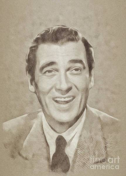 Wall Art - Painting - Walter Pidgeon, Vintage Actor by John Springfield