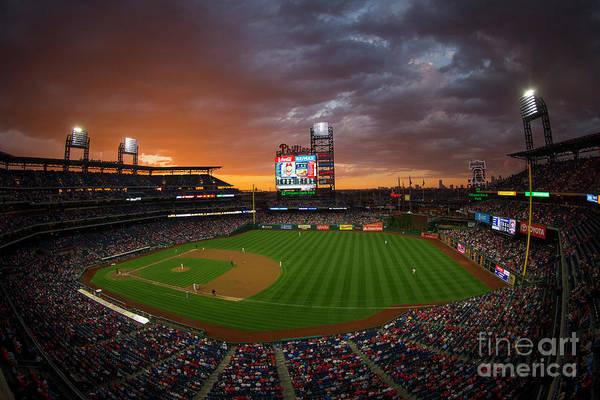 Photograph - Washington Nationals  V Philadelphia by Mitchell Leff