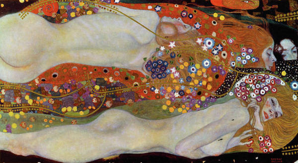 Wall Art - Painting - Water Serpents II by Gustav Klimt