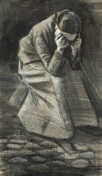 Wall Art - Drawing - Weeping Woman by Vincent van Gogh