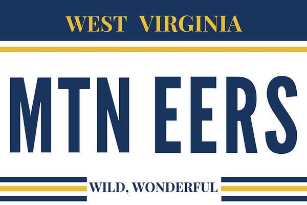 Mountaineer Digital Art - West Virginia Mountaineers by Aaron Geraud