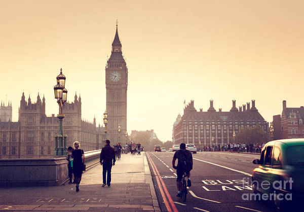 Westminster Bridge Photograph - Westminster Bridge At Sunset, London, Uk by Esb Professional