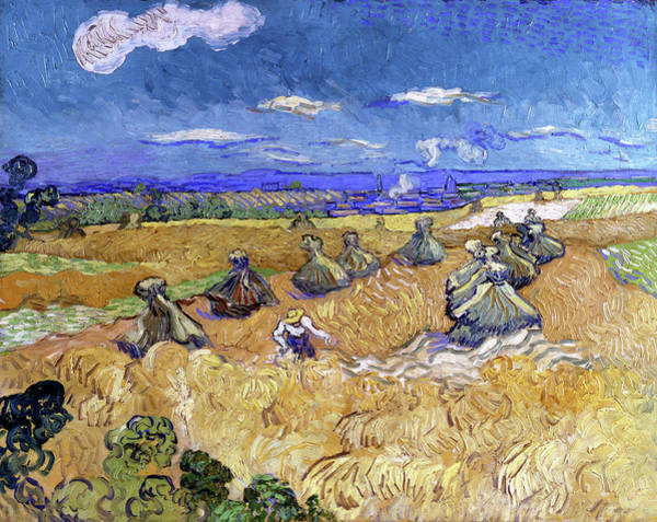 Wall Art - Painting - Wheat Stacks With Reaper - Digital Remastered Edition by Vincent van Gogh