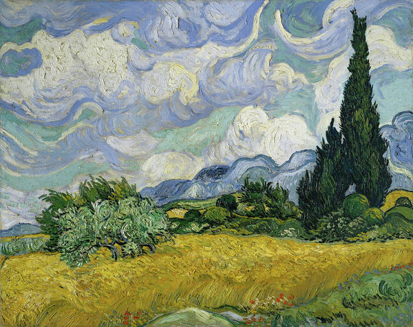 Painting - Wheatfield With Cypresses  by Vincent van Gogh