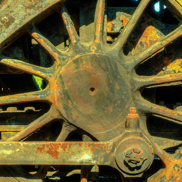 Wall Art - Photograph - Wheel And Driver Of A Railcar by Panoramic Images