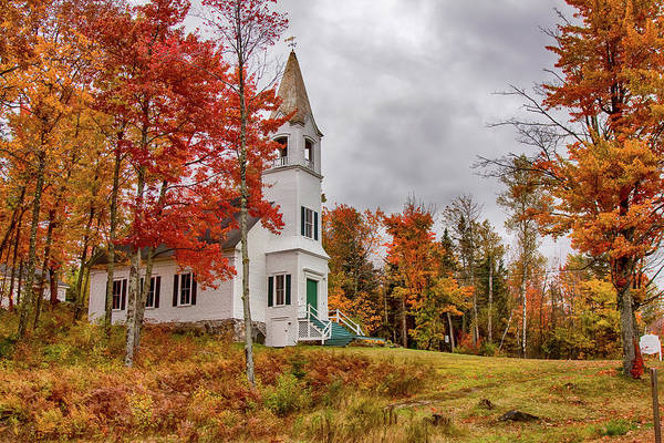 Wall Art - Photograph - White New Hampshire Church by Jeff Folger
