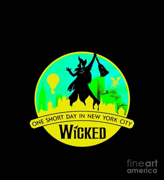Wicked Witch Of The West Digital Art - Wicked Broadway by Carles Mob