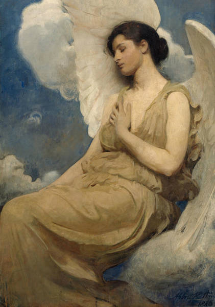 Wall Art - Painting - Winged Figure by Abbott Handerson Thayer