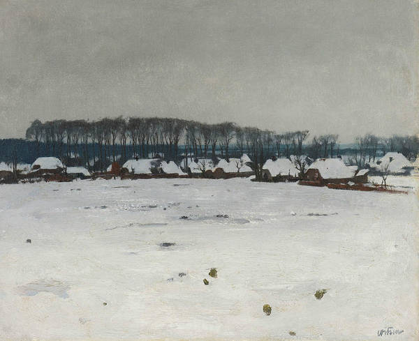 Painting - Winter Landscape by Willem Witsen