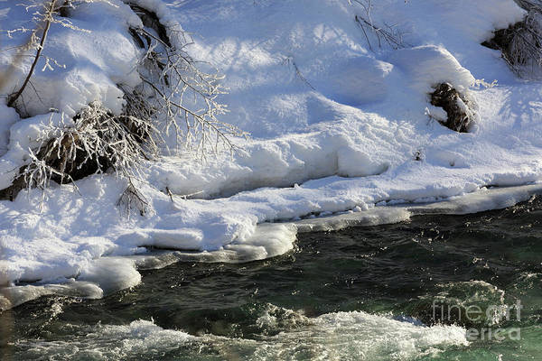 Wall Art - Photograph - Winter Stream Near Hope On The Kenai Peninsula Alaska by Louise Heusinkveld