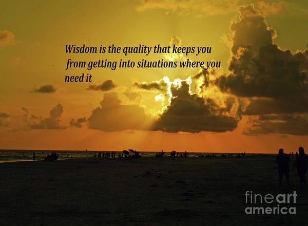 Photograph - Wisdom by Gary Wonning