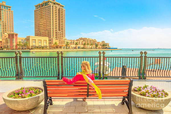 Photograph - Woman At Porto Arabia by Benny Marty