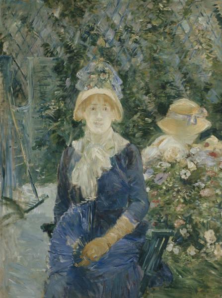 Wall Art - Painting - Woman In A Garden by Berthe Morisot