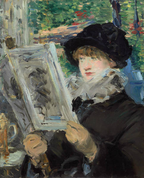 Wall Art - Painting - Woman Reading by Edouard Manet