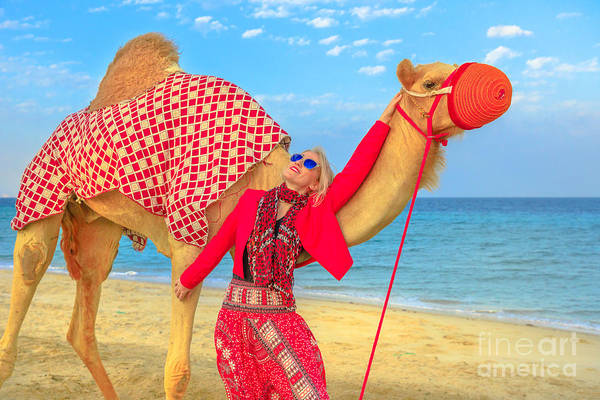 Photograph - Woman With Camel by Benny Marty