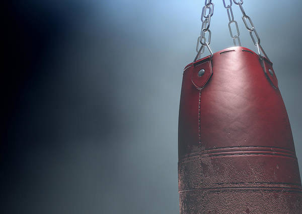 Wall Art - Digital Art - Worn Leather Punching Bag by Allan Swart