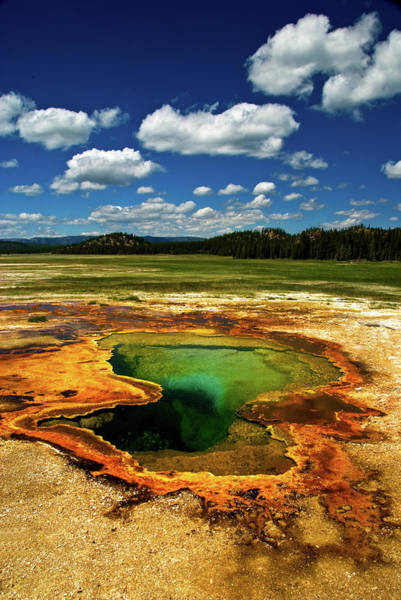 Morning Glory Photograph - Yellowstone Thermal Pool by Bill Wight Ca