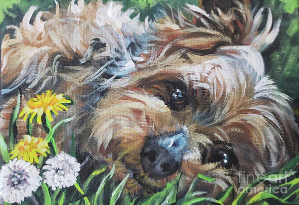 Wall Art - Painting - Yorkshire Terrier by Lee Ann Shepard