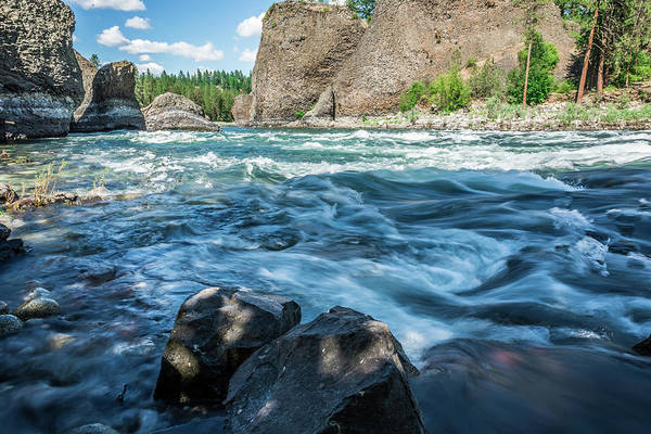 Photograph - At Riverside Bowl And Pitcher State Park In Spokane Washington by Alex Grichenko
