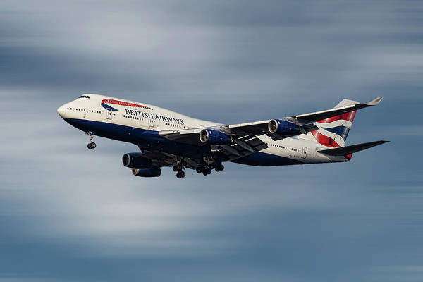 Wall Art - Mixed Media - British Airways Boeing 747-436 by Smart Aviation