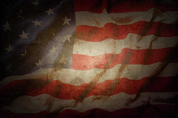 Wall Art - Photograph - American Flag No.193 by Les Cunliffe