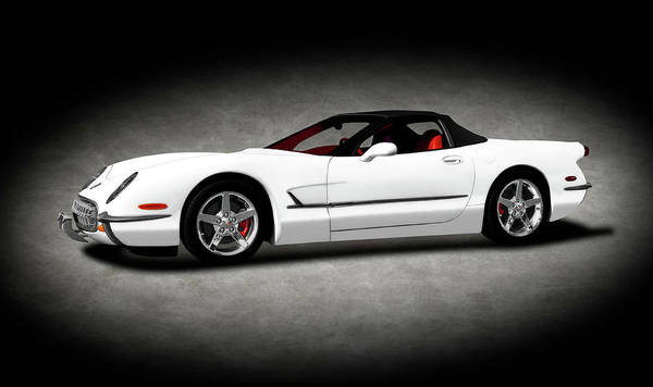 Wall Art - Photograph - 2000 C5 Chevrolet Corvette Custom  -  2000corvettec5customtexture196782 by Frank J Benz