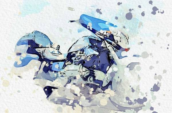 Wall Art - Painting - 2000 Honda Motorcycles Goldwing Valkyrie Interstate Gl 1500 Cf 2 Watercolor By Ahmet Asar by Ahmet Asar